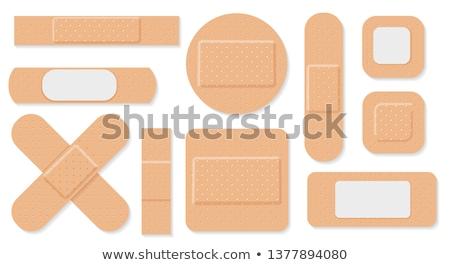 Tapadó bandázs illusztráció fehér szövet kosz Stock fotó © bluering