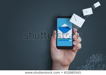 Sending a sms Stock photo © iko