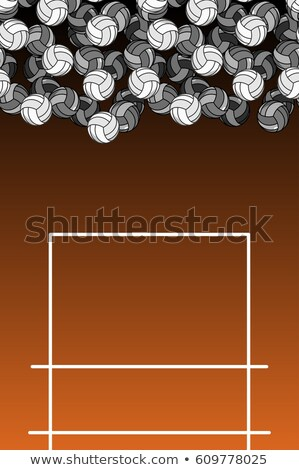 volleyball field and ball lot of balls volleyball background stock photo © maryvalery