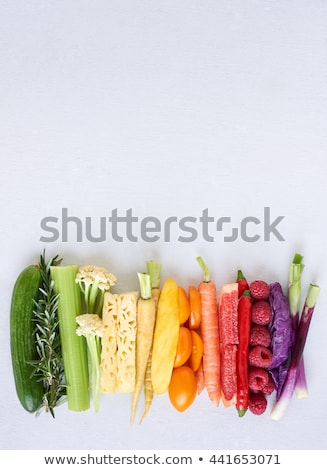 Border of colorful varieties of fresh carrots Stock photo © ozgur