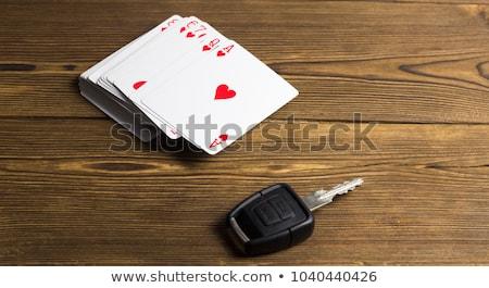 poker · yonga · anahtarlık · yalıtılmış · beyaz · kalp - stok fotoğraf © berczy04