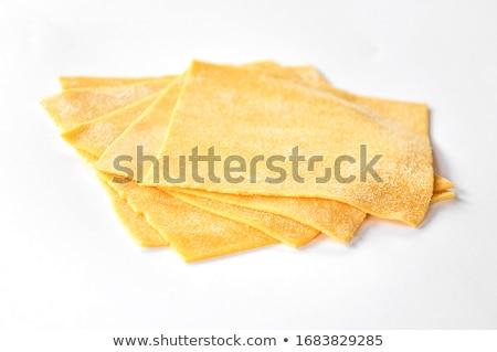 Lasagne háttér fehér lap vászon olasz Stock fotó © jirkaejc