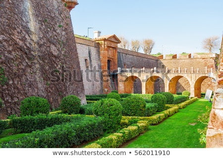 Militaire musée forteresse montagne Barcelone Espagne Photo stock © frimufilms