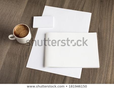 Vállalati márka üzlet prospektus brosúra sablon Stock fotó © SArts