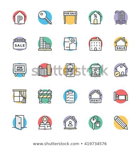 illustration · agent · immobilier · crayon · 3d · illustration · gomme · modèle - photo stock © tussik