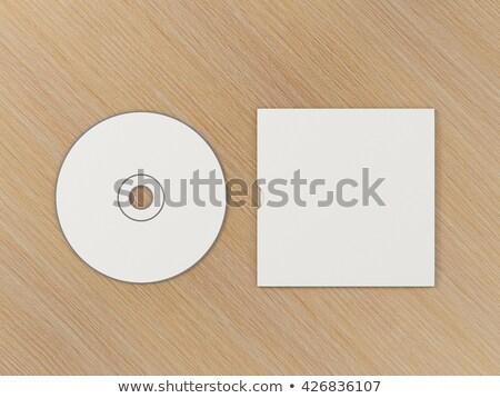 Cd presentatie sjabloon muziek papier Stockfoto © SArts