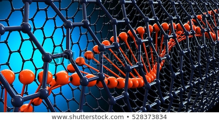 Illustration of nano molecule as a backround Stock photo © tussik