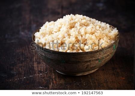 Tazón cocido cuscús blanco alimentos Foto stock © Digifoodstock