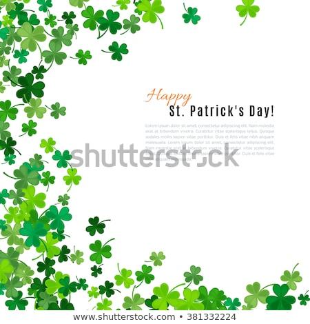 verde · afortunado · cuatro · hoja · irlandés · trébol - foto stock © fresh_5265954