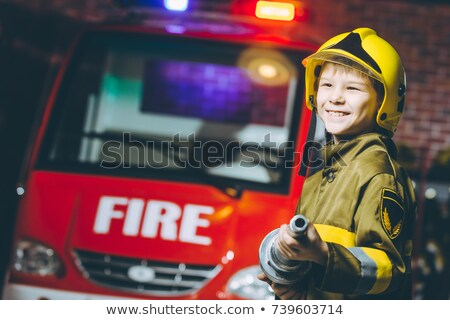 cute boy pretending to be a worker stock photo © wavebreak_media