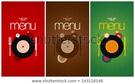 retro · música · largo · Servicio · menú · diseno - foto stock © Dimpens