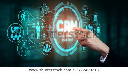 Crm szoftver laptop képernyő vásárló kapcsolat Stock fotó © tashatuvango