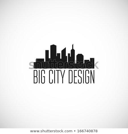 Night Skyline City. Abstract town. Industrial landscape Vector i Stock photo © popaukropa