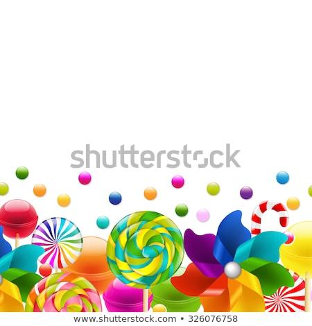 Lollypop Big Set With Pinwheel Border Stock photo © barbaliss