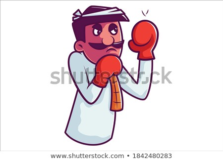 バランス · 強い · 男 · バランス · 岩 · スポーツ - ストックフォト © deandrobot