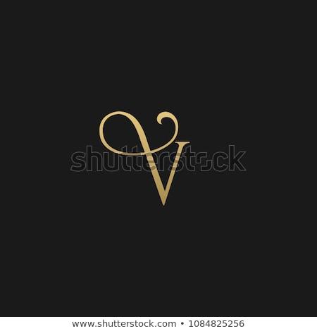 luxury letter V logo concept design in golden color Stock photo © SArts