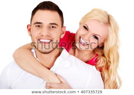 男 演奏 髪 笑みを浮かべて セクシー 肖像 ストックフォト © monkey_business