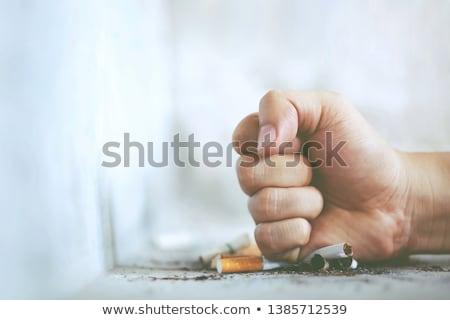 Silhouette fumo dannoso abitudine fumare forma Foto d'archivio © Olena