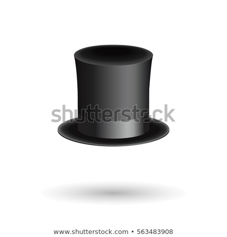 hat cylinder isometric style isolated cap aristocrat vector il stock photo © popaukropa