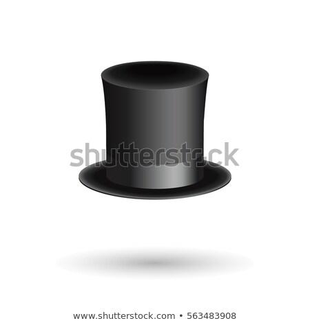 şapka silindir izometrik stil yalıtılmış kapak Stok fotoğraf © popaukropa