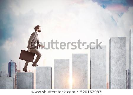 Manier succes ingesteld wedstrijden trappenhuis Stockfoto © psychoshadow