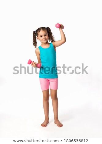 肥満した · 子供 · 行使 · 実例 · 少女 · 行使 - ストックフォト © rastudio