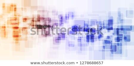 Abstrato colorido borrão azul laranja formas Foto stock © anadmist