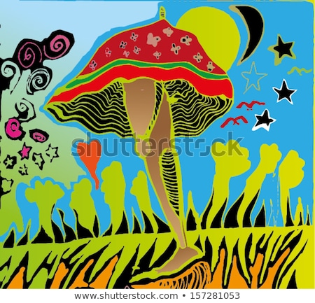 Psychedelic Mushroom Distorted Stock photo © lenm