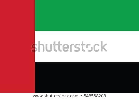 Birleşik Arap Emirlikleri bayrak beyaz arka plan imzalamak kırmızı Stok fotoğraf © butenkow