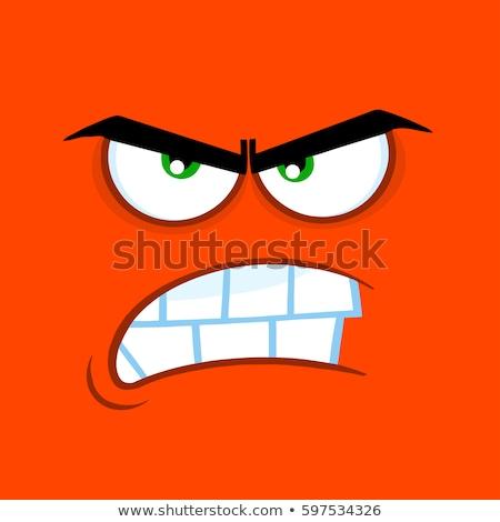 сердиться · глазах · свободный · стороны · таблетка · рисунок - Сток-фото © hittoon