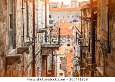 dubrovnik steep narrow street view stock photo © xbrchx