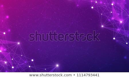 Polygonal blockchain futuristic hud banner. Stock photo © RAStudio