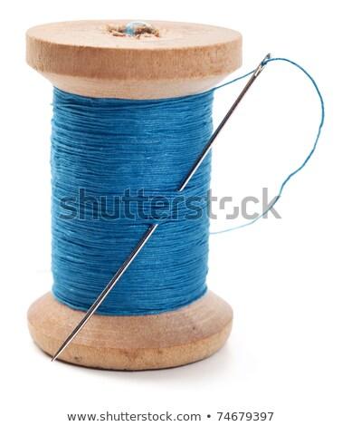 синий иглы джинсовой моде дизайна фон Сток-фото © OleksandrO