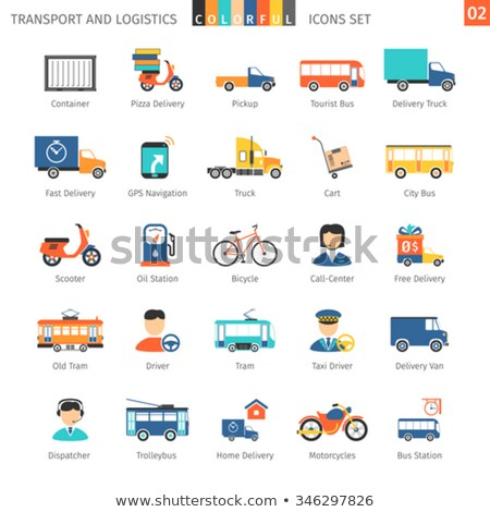 Transport and logistic icons 02 Stock photo © Genestro