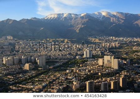 tehran aerial view iran stock photo © joyr