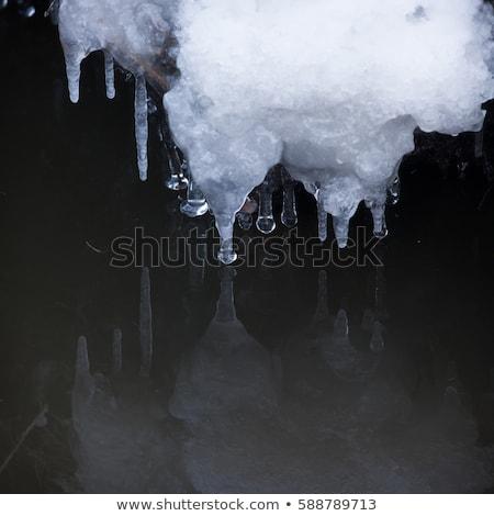 Piccolo acqua perfetto riflessione neve ghiaccio Foto d'archivio © Juhku