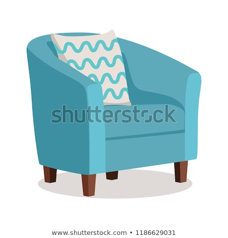 Set of modern colorful soft armchair with upholstery Stock photo © MarySan