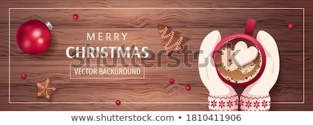 Noel · mumlar · parıltı · yatay · kart - stok fotoğraf © barbaraneveu