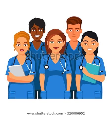 Grupy mężczyzna kobiet lekarzy Zdjęcia stock © feverpitch