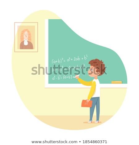 少年 黒板 教室 ベクトル ストックフォト © pikepicture
