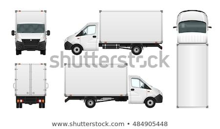 vetor · caminhão · modelo · isolado · branco · eps10 - foto stock © mechanik