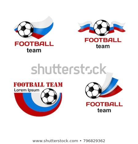 futbol · fincan · rozet · 10 · eps · mavi - stok fotoğraf © robuart