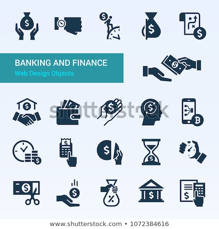 Business Income and Money Banking Operations Set Stock photo © robuart