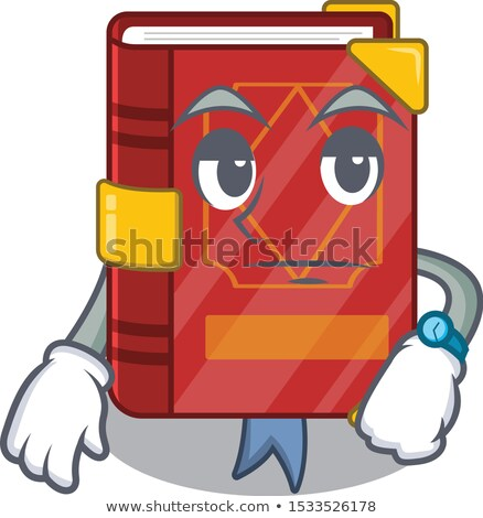 Rajz varázsige könyv unatkozik illusztráció néz Stock fotó © cthoman