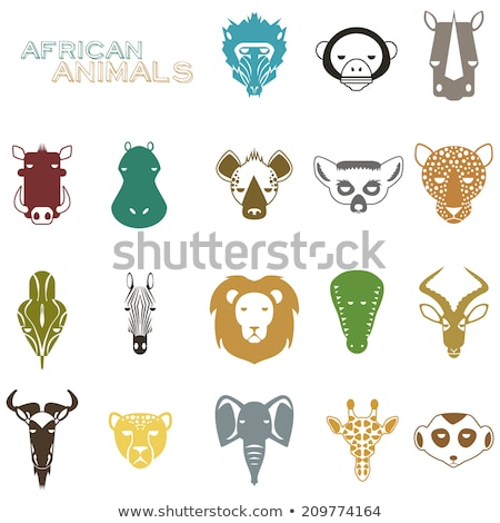 Baboon Head Flat Icon Stock photo © patrimonio