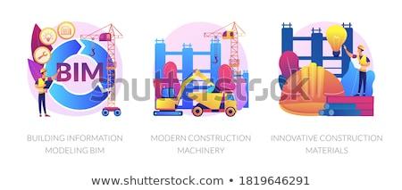 Yenilikçi inşaat malzemeleri Bina mühendisler akıllı malzemeler Stok fotoğraf © RAStudio