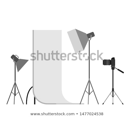 Flashstand Portable Mounted Flash Speedlite Light Stock photo © robuart