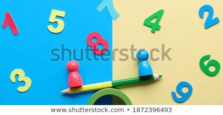 Number ten on wooden banner Stock photo © colematt