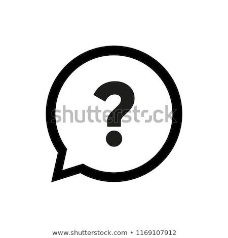 Faq icon illustratie witte business ontwerp Stockfoto © get4net
