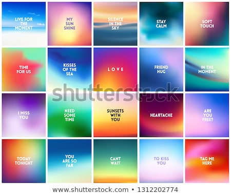 big set of 20 high quality square blurred nature backgrounds with various quotes stock photo © marysan